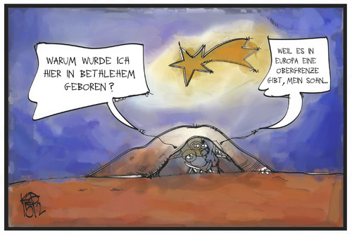 Cartoon: Obergrenze in Europa (medium) by Kostas Koufogiorgos tagged karikatur,koufogiorgos,illustration,cartoon,obergrenze,europa,bethlehem,christus,jesus,maria,josef,weihnachten,krippe,geburt,flüchtlingspolitik,karikatur,koufogiorgos,illustration,cartoon,obergrenze,europa,bethlehem,christus,jesus,maria,josef,weihnachten,krippe,geburt,flüchtlingspolitik