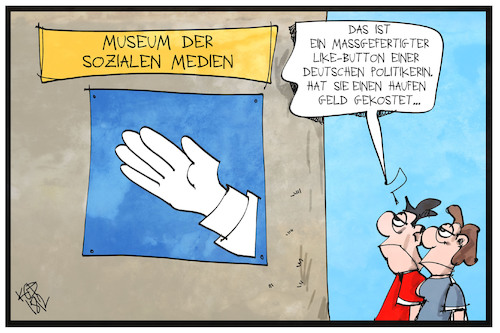 Cartoon: Social-Media-Wahlkampf (medium) by Kostas Koufogiorgos tagged karikatur,koufogiorgos,illustration,cartoon,afd,spende,geld,weidel,partei,wahlkampf,like,hand,zustimmung,politik,social,media,karikatur,koufogiorgos,illustration,cartoon,afd,spende,geld,weidel,partei,wahlkampf,like,hand,zustimmung,politik,social,media