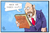 Cartoon: Agenda 2010 (small) by Kostas Koufogiorgos tagged karikatur,koufogiorgos,illustration,cartoon,agenda,2010,2017,schulz,spd,wahlkampf,arbeitspolitik
