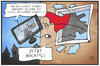 Cartoon: Berichterstattung zu 4U 9525 (small) by Kostas Koufogiorgos tagged karikatur,koufogiorgos,illustration,cartoon,germanwings,4u9525,flugzeug,pilot,wartung,technik,fernseher,nachrichten,berichterstattung,fenster,spekulation