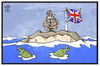 Cartoon: Brexit (small) by Kostas Koufogiorgos tagged karikatur,koufogiorgos,illustration,cartoon,brexit,insel,castaway,yes,no,referendum,eu,europa,austritt,grossbritannien,entscheidung,flaschenpost