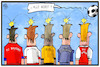 Cartoon: Bundesligastart (small) by Kostas Koufogiorgos tagged karikatur,koufogiorgos,illustration,cartoon,bundesligastart,fussball,sport,bundesliga,ball,saisonbgeginn,verein,club