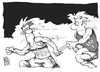 Cartoon: Doping in der BRD (small) by Kostas Koufogiorgos tagged brd,ddr,sport,doping,wende,staffel,lauf,betrug,korruption,karikatur,koufogiorgos