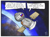 Cartoon: Ein Deutscher auf der ISS (small) by Kostas Koufogiorgos tagged karikatur,koufogiorgos,illustration,cartoon,alexander,gerst,erde,weltall,all,kosmos,atronaut,weltraum,raumfahrt,sojus,kapsel,deutscher,raumstation,iss,wissenschaft,technik