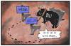 Cartoon: Euro-Krise (small) by Kostas Koufogiorgos tagged karikatur,koufogiorgos,illustration,cartoon,europa,euro,eu,stier,sparpolitik,krise,politik