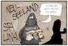 Cartoon: Fanatismus (small) by Kostas Koufogiorgos tagged karikatur,koufogiorgos,illustration,cartoon,fanatismus,anschlag,terrorismus,neuseeland,christchurch,sri,lanka,terrorist,täter