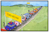 Cartoon: Ferien-Stau (small) by Kostas Koufogiorgos tagged karikatur,koufogiorgos,illustration,cartoon,ferien,stau,verkehr,auto,ferienende,ferienbeginn,automobil,mobilität