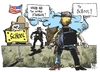 Cartoon: Guns in USA (small) by Kostas Koufogiorgos tagged violence,guns,newtown,usa,safety,schools,law,murder,cartoon,koufogiorgos