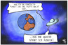 Cartoon: Hunger in der Welt (small) by Kostas Koufogiorgos tagged karikatur,koufogiorgos,illustration,cartoon,hunger,welt,erde,planet,ufo,untertasse,diät,ernährung