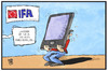 Cartoon: IFA-Trends (small) by Kostas Koufogiorgos tagged karikatur,koufogiorgos,illustration,cartoon,ifa,handy,smartphone,display,funkausstellung,messe,modell,präsentation,verkauf,trend,technik,telekommunikation