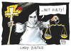 Cartoon: Lady Justice (small) by Kostas Koufogiorgos tagged zimmerman,trayvon,martin,lady,justice,usa,cartoon,koufogiorgos
