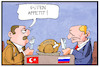 Cartoon: Putin und Erdogan (small) by Kostas Koufogiorgos tagged karikatur,koufogiorgos,illustration,cartoon,erdogan,putin,syrien,essen,appetit,tuerkei,russland,konflikt,konferenz