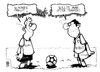 Cartoon: Respect (small) by Kostas Koufogiorgos tagged griechenland,deutschland,fussball,em,europa,meisterschaft,soccer,championship,respect,match,greece,germany,euro,danzig