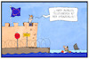 Cartoon: Roaming in Europa (small) by Kostas Koufogiorgos tagged karikatur,koufogiorgos,illustration,cartoon,roaming,telekommunikation,grenze,flüchtlinge,mittelmeer,telefon,smartphone,tarif,europa,festung,grenzenlos
