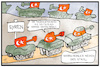 Cartoon: Rüstungsstau (small) by Kostas Koufogiorgos tagged karikatur,koufogiorgos,illustration,cartoon,syrien,tuerkei,panzer,leopard,stau,waffen,rüstung