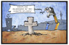 Cartoon: Stuttgart 21 (small) by Kostas Koufogiorgos tagged karikatur,koufogiorgos,illustration,cartoon,stuttgart,21,milliardengrab,geier,grabstein,grundstein,bahn,bahnhof,beerdigung