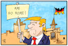 Cartoon: US-Soldaten in Deutschland (small) by Kostas Koufogiorgos tagged karikatur,koufogiorgos,illustration,cartoon,trump,usa,soldaten,stationierung,deutschland,milität,truppen