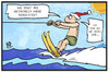 Cartoon: Warme Weihnachten (small) by Kostas Koufogiorgos tagged karikatur,koufogiorgos,illustration,cartoon,weihnachten,wasserski,ski,klima,wetter,erderwärmung,klimawandel,urlaub,winter