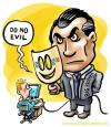 Cartoon: Do no evil (small) by illustrator tagged big,brother,google,evil,watching,control,cartoon,satire,welleman,
