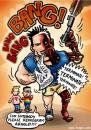Cartoon: Program Arnold (small) by illustrator tagged arnold,schwarzenegger,governer,gay,marriage,terminator,ban,illustrator,welleman,heirat,heiraten,ehe,comic,character,