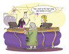 Cartoon: What is... (small) by Felicity Nims tagged bingo,book,sales,old,people,managers