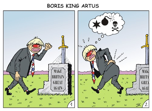 Cartoon: BorisKingArtus (medium) by JotKa tagged boris,johnson,great,britain,empire,king,artus,arthus,eu,brexit,make,again,sword,schwert,mittelalter,sagen,merlin,boris,johnson,great,britain,empire,king,artus,arthus,eu,brexit,make,again,sword,schwert,mittelalter,sagen,merlin