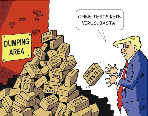Cartoon: Krisenmanager Trump (medium) by JotKa tagged krisen,corona,manager,covid19,viren,seuchen,pandemie,tests,krankheiten,virentest,krisen,corona,manager,covid19,viren,seuchen,pandemie,tests,krankheiten,virentest