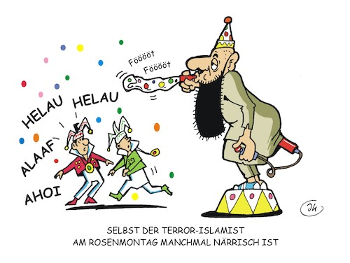Cartoon: Rosenmontag (medium) by JotKa tagged rosenmontag,karneval,narren,jecken,rosenmontag,karneval,narren,jecken