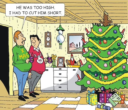 Cartoon: The Christmastree (medium) by JotKa tagged christmas,xmas,holiday,presents,christmaseve,christmasparty,christmastree,xmastree,christmas,xmas,holiday,presents,christmaseve,christmasparty,christmastree,xmastree
