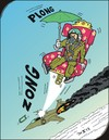 Cartoon: Ejection seat  - Schleudersitz (small) by JotKa tagged aviation air force pilots fighter emergency rescue parachute ejection seat fire armchair umbrella sky clouds earth crash jump off suspended jet luftfahrt luftwaffe piloten kampfpiloten notfall luftnotlage rettung fallschirm schleudersitz feuer sessel rege