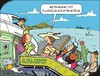 Cartoon: Flugangst (small) by JotKa tagged urlaub,reisen,fliegen,flugangst,konstukteur,flugzeug,panik,experte,insel,fallschirm,rettungsring,schwimmhilfe