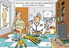Cartoon: Occupational disease (small) by JotKa tagged occupational,disease,doctor,food,businessman,staff,slaughter,cattle,fattening,chickens,operation,fatteners,chicken,foods,patient,business,man,men,ambulance,diseases,hormones,antibiotics
