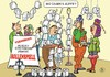 Cartoon: Vernissage (small) by JotKa tagged vernissage,gesellschaft,kunst,künstler,kunsthalle,galerie,kunstgalerie,buffet,feier,party,experten,kunstkritiker,clopapier,wc,rollen,rollenspiele,arrangement,gäste,einladung,kunstexperten,designer,maler,auktionen