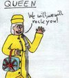 Cartoon: Queen (small) by Salatdressing tagged queen,england,britanien,great,britain,music,alt,klassisch,gut,rock,rocken,berühmt