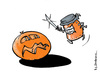Cartoon: Halloween Nightmare (small) by Micha Strahl tagged micha,strahl,halloween,nightmare,kürbis,kürbismarmelade,pumpkin