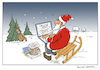 Cartoon: santa claus online (small) by Micha Strahl tagged micha,strahl,weihnachtsmann,online,santa,claus