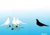 Cartoon: Racism and Peace (small) by CIGDEM DEMIR tagged racism,peace,pigeon,olive