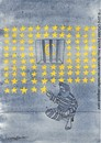 Cartoon: The days spent... (small) by CIGDEM DEMIR tagged cigdem,demir,day,star,caricaturist,prison,jail,man,moon,yellow
