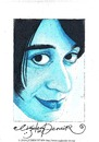 Cartoon: Woman in Blue (small) by CIGDEM DEMIR tagged cigdem,demir,woman,in,blue,portrait,cartoon,caricature