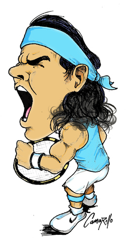 Cartoon: RAFAEL NADAL (medium) by camarillo tagged nadal