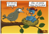 Cartoon: Zugvogel (small) by karicartoons tagged vogel,vögel,fernbus,nest,faul,sitzen,zugvogel