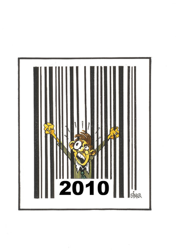 Cartoon: Bar code (medium) by Dluho tagged barcode