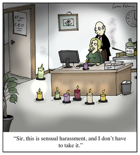 Cartoon: Sensual Harassment (medium) by Humoresque tagged massage,massages,masseuse,masseuses,sensual,sexual,harassment,secretary,secretaries,boss,bosses,oil,oils,incense,scented,candle,candles,coworker,coworkers,discrimination,sexist,sexism,employee,employees,mistreatment,sexually,harrassing