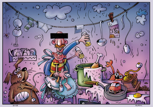 Vatertag De Kurtu Gente Popular Cartoon Toonpool