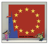 Cartoon: china EU (small) by kurtu tagged yes