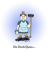 Cartoon: die Dreck-Queen... (small) by martinchen tagged dreck,queen,drag