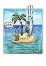 Cartoon: einsame Insel... (small) by martinchen tagged alien,insel