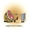 Cartoon: Gammelfleischskandal... (small) by martinchen tagged gammelfleisch,fleisch,skandal