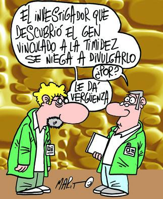 Cartoon: CIENTIFICO (medium) by Mario Almaraz tagged dos,cientificos