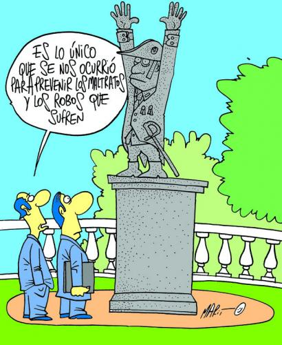 Cartoon: CUIDAR LOS MONUMENTOS (medium) by Mario Almaraz tagged dos,personas,ante,un,monumento
